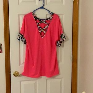 Bright Barbie pink blouse